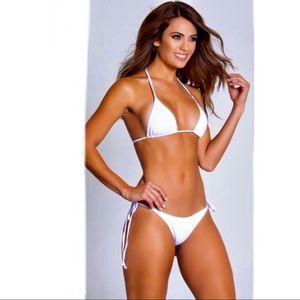 NWT Yandy White Bachelorette Thong Bikini Set 👙🤍